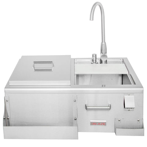"Image of Blaze 30"" Beverage Center With Sink & Ice Bin Cooler BLZ-30CKT-SNK"