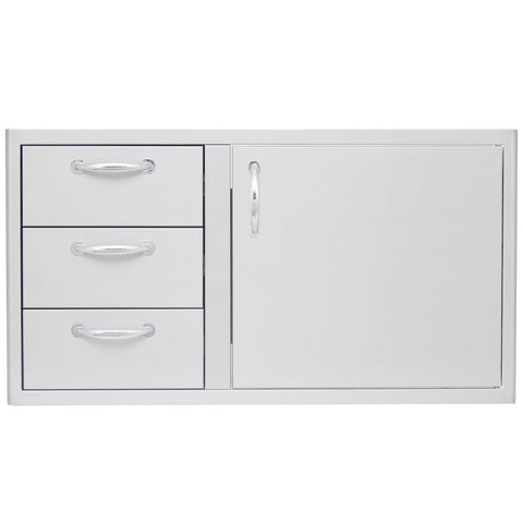 "Image of Blaze 32""/39"" Access Door & Drawer Combo Accessory Three BLZ-DDC-39-R"