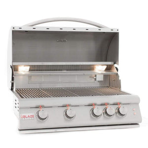"Blaze 32"" 4-Burner LTE Built-In Gas Grill with Lights"