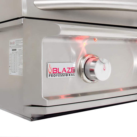 "Image of Blaze 34"" 3-Burner Professional Built-In Gas Grill with Rear Infrared Burner"