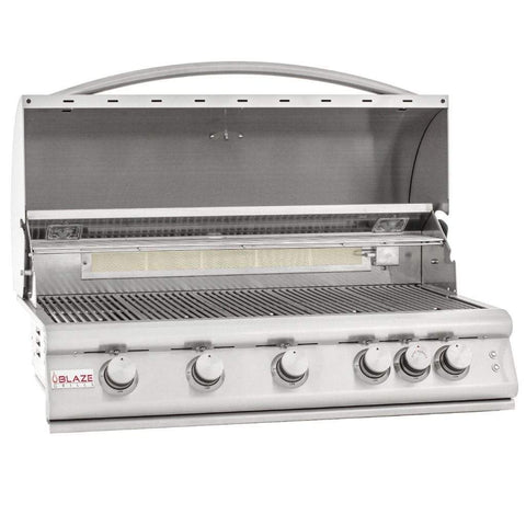 "Blaze 40"" 5-Burner LTE Built-In Gas Grill with Lights"