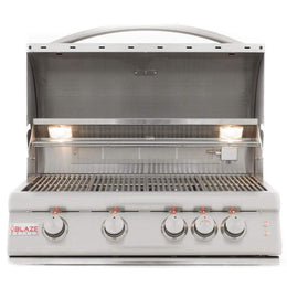 "Blaze LTE Marine Grade 32"" 4-Burner Built-In Gas Grill With Rear Infrared Burner & Grill Lights"