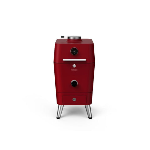 "Everdure 21"" 4K Electric Ignition Charcoal Grill and Smoker/Electric Outdoor Oven Red HBCE4KRUS"