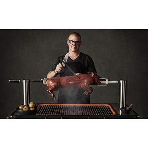 "Everdure 54"" HUB Grill, Charcoal BBQ with Electric Element & Rotisserie HBCE2BUS"
