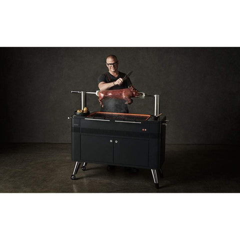 "Image of Everdure 54"" HUB Grill, Charcoal BBQ with Electric Element & Rotisserie HBCE2BUS"