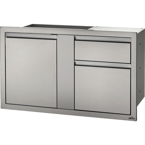 "Image of Napoleon 42"" X 24"" Stainless Steel Large Single Door and Waste Bin Drawer"