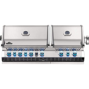 "Napoleon 56"" Prestige PRO 825 Built-in Gas Grill with Infrared Rear Burner and Infrared Sear Burners"