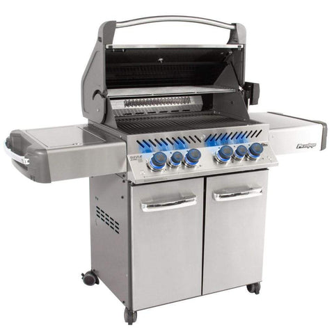 "Napoleon 66"" Prestige 500 RSIB Freestanding Gas Grill with Infrared Rear Burner & Infrared Side Burner"
