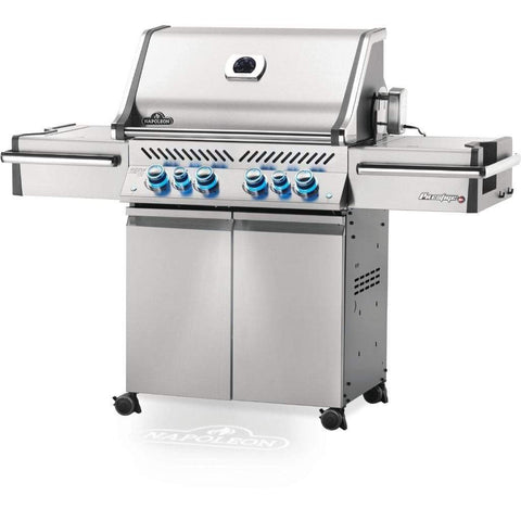 "Image of Napoleon 67"" Prestige PRO 500 Freestanding Gas Grill with Infrared Rear Burner and Infrared Side Burners"