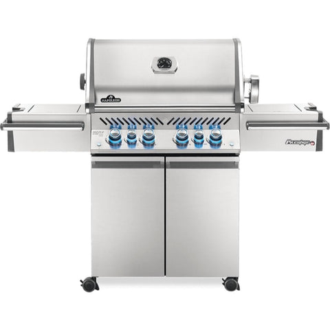 "Image of Napoleon 67"" Prestige PRO 500 Freestanding Gas Grill with Infrared Rear Burner and Infrared Side Burners Natural Gas / Stainless Steel PRO500RSIBNSS-3"