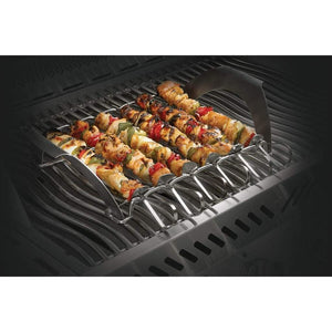 Napoleon 70002 PRO Pizza Stone with Skewers and Rack 70002