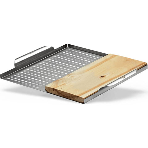 Napoleon 70026 Stainless Steel Multi-functional Topper with Cedar Plank 70026
