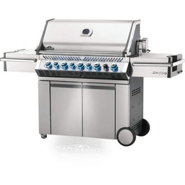 "Napoleon 77"" Prestige PRO 665 Freestanding Gas Grill with Infrared Rear Burner and Infrared Side Burners Natural Gas / Stainless Steel PRO665RSIBNSS-3"