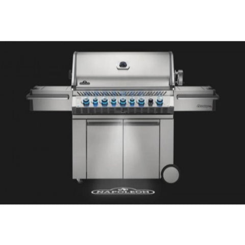 "Napoleon 77"" Prestige PRO 665 Freestanding Gas Grill with Infrared Rear Burner and Infrared Side Burners"