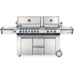 "Napoleon 94"" Prestige PRO 825 Freestanding Gas Grill with Infrared Rear Burner, Double Infrared Sear Burner & Side Burner"