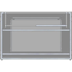 "RTF Systems Universal 54"" Ready To Finish BBQ Island Appliance And Storage Cabinet RTF54-29-AC"