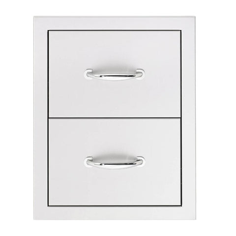 "Image of Summerset 17"" Stainless Steel Flush Mount Single/Double/Triple Access Drawer Double Access Drawer SSDR2-17"