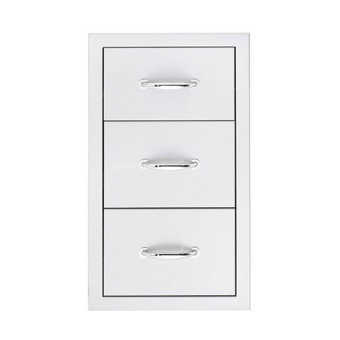 "Image of Summerset 17"" Stainless Steel Flush Mount Single/Double/Triple Access Drawer Triple Access Drawer SSDR3-17"