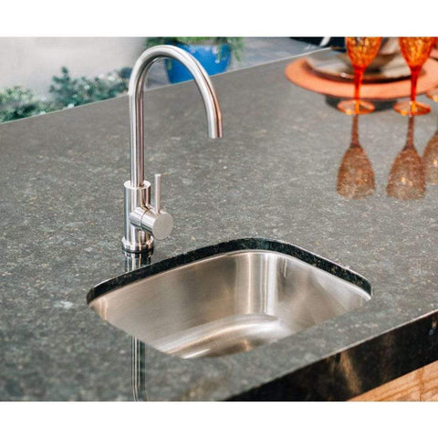 "Image of Summerset 19"" Stainless Steel Undermount Sink & 360º Hot/Cold Faucet SSNK-19U"