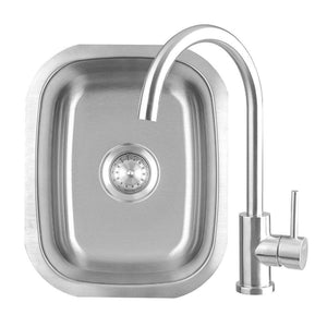"Summerset 19"" Stainless Steel Undermount Sink & 360º Hot/Cold Faucet SSNK-19U"