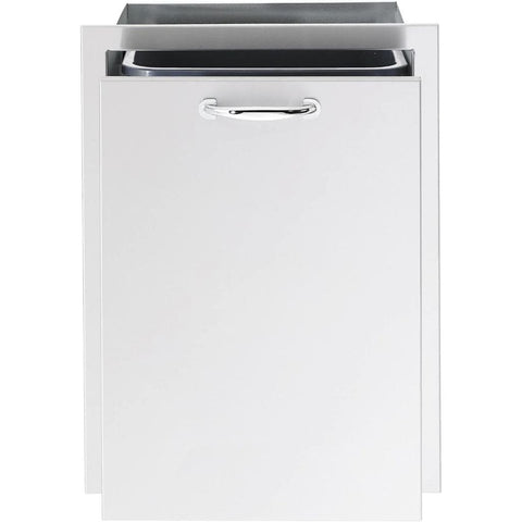 "Image of Summerset 20"" Stainless Steel Trash Recycling 2-Bin Pullout Drawer SSTD2-20"