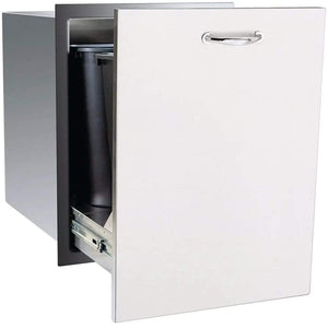 "Summerset 20"" Stainless Steel Trash Recycling 2-Bin Pullout Drawer SSTD2-20"