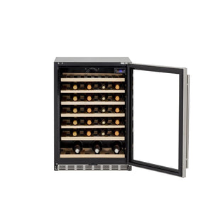 "Summerset 24"" 5.3 Cu. Ft. 54 Bottle Capacity Outdoor Rated Deluxe Wine Cooler SSRFR-24DWC"