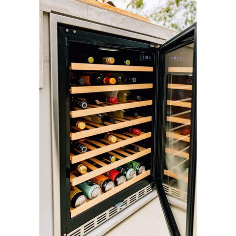 "Image of Summerset 24"" 5.3 Cu. Ft. 54 Bottle Capacity Outdoor Rated Deluxe Wine Cooler SSRFR-24DWC"