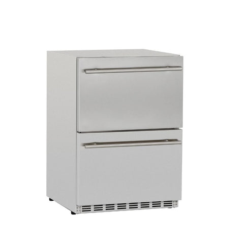 "Image of Summerset 24"" 5.3 Cu. Ft. Outdoor Rated 2-Drawer Deluxe Refrigerator SSRFR-24DR2"