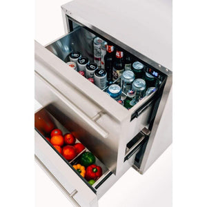 "Summerset 24"" 5.3 Cu. Ft. Outdoor Rated 2-Drawer Deluxe Refrigerator SSRFR-24DR2"