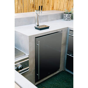 "Summerset 24"" 6.6 Cu. Ft. Outdoor Rated Double Tap Beer Kegerator/Dispenser SSRFR-24DK2"