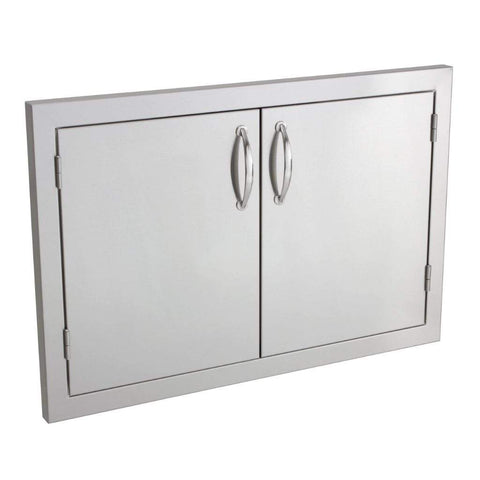 "Image of Summerset 33""/45"" Stainless Steel Double Access Door with Masonry Frame Return 33-Inch SSDD-33M"