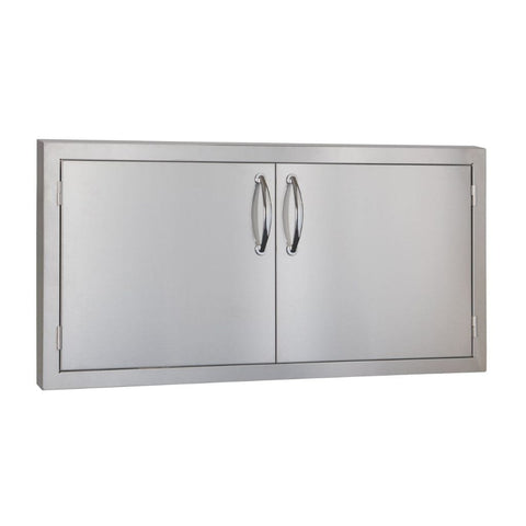 "Image of Summerset 33""/45"" Stainless Steel Double Access Door with Masonry Frame Return 45-Inch SSDD-45M"