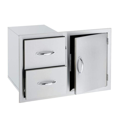 "Image of Summerset 33"" Stainless Steel Double/Triple Drawer & Access Door Combo"