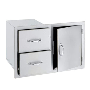 "Summerset 33"" Stainless Steel Double/Triple Drawer & Access Door Combo"