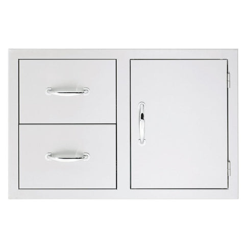 "Image of Summerset 33"" Stainless Steel Double/Triple Drawer & Access Door Combo 2-Drawer & Access Door SSDC2-33"