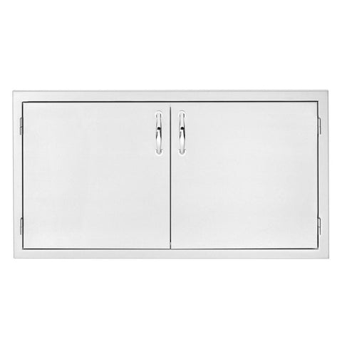 "Image of Summerset 36"" Stainless Steel 2-Drawer Dry Storage Pantry & Enclosed Cabinet Combo SSDP-36DC"