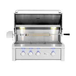"Summerset Alturi 36"" 3-Burner Built-In Gas Grill With Stainless Steel Burners & Rotisserie"