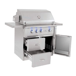 "Summerset Alturi 36"" 3-Burner Freestanding Gas Grill With Stainless Steel Burners & Rotisserie"
