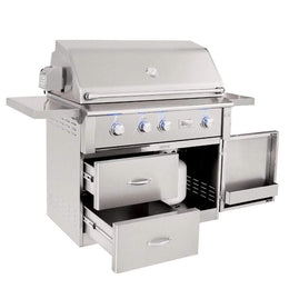 "Summerset Alturi 42"" 3-Burner Freestanding Gas Grill With Stainless Steel Burners & Rotisserie"