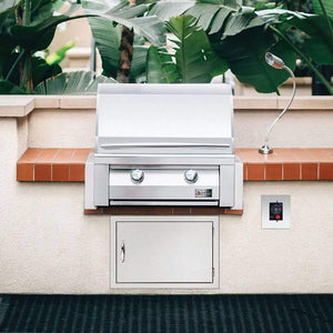 "Summerset Builder 30"" 2-Burner Freestanding Natural Gas Grill SBG30-NG + SBG30-PED"