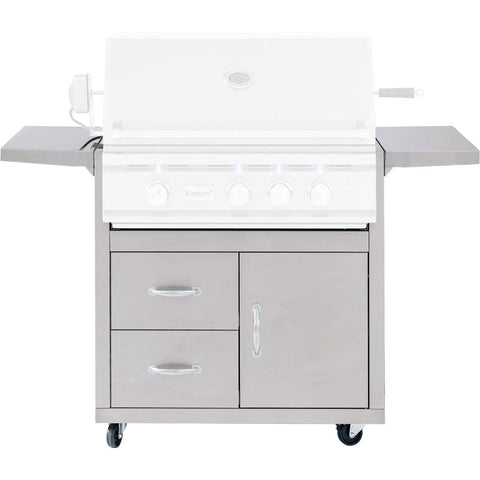 Image of Summerset Fully Assembled Door & 2-Drawer Combo Grill Carts for TRL Series (Cart Only) 32-Inch CART-TRL32-DC