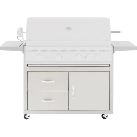 Image of Summerset Fully Assembled Door & 2-Drawer Combo Grill Carts for TRL Series (Cart Only) 38-Inch CART-TRL38-DC