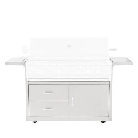 Image of Summerset Fully Assembled Door & 2-Drawer Combo Grill Carts for TRL Series (Cart Only) 44-Inch CART-TRLD44-DC