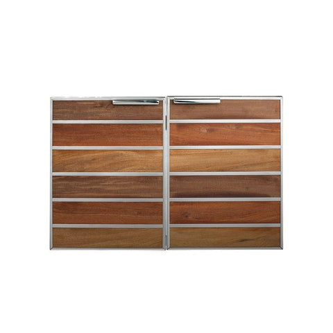 "Image of Summerset Madera 30"" Stainless Steel & Wood Double Access Door"