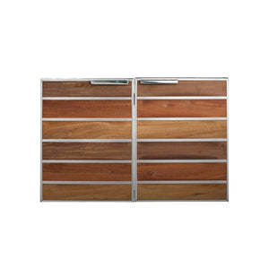 "Summerset Madera 30"" Stainless Steel & Wood Double Access Door"