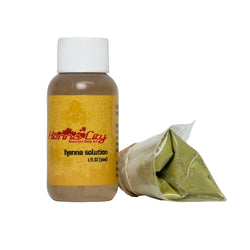 Henna Refill - Henna powder & Mixing solution, 1 ounce