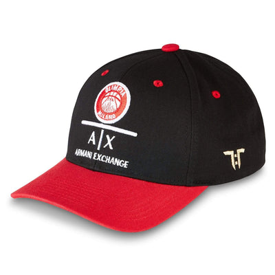 "Tokyo Time ""AX Armani Exchange Olimpia Milan"" Euro League Collab Cap - Black/Red"