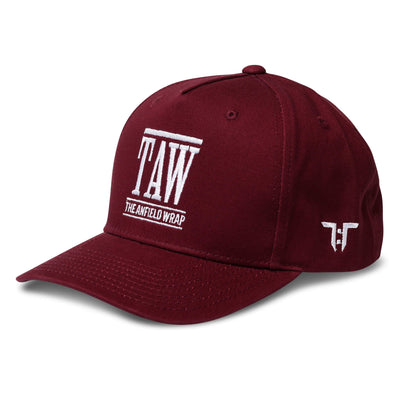 Tokyo Time TAW Liverpool Collab Cap - Claret Red/White Adult Snapback Baseball Cap