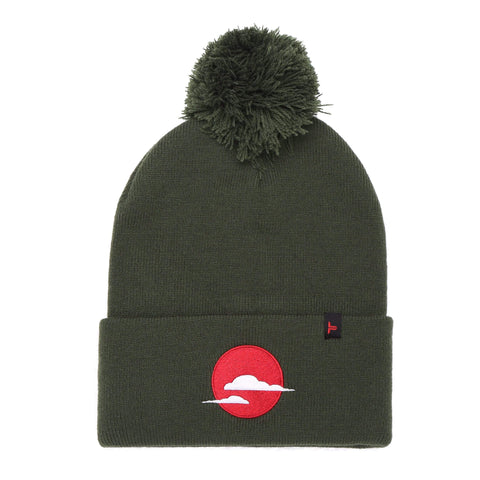 Tokyo Time Urban Bobble Hat - Military Green